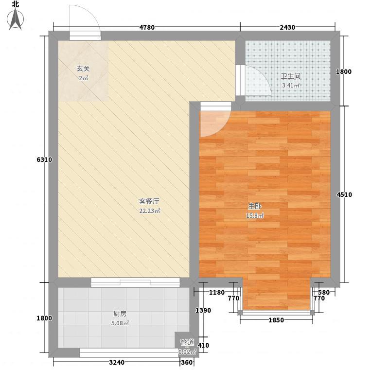 长城花园一居室16户型1室1厅1卫1厨