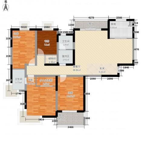 凤凰和熙苑4室1厅2卫1厨166.00㎡户型图