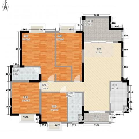 水岸名都4室1厅2卫1厨163.00㎡户型图
