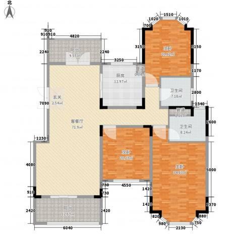 紫金天境3室1厅2卫1厨276.00㎡户型图