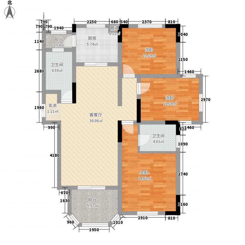 紫金天境127.00㎡1-37#全部高层H3-1户型3室2厅2卫
