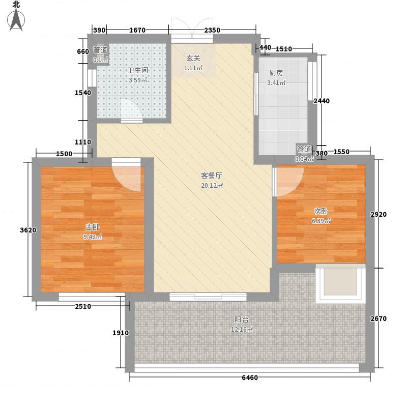 和地蓝湾89.77㎡和地蓝湾户型图20080426-B2偶数6号楼2室2厅1卫1厨户型2室2厅1卫1厨