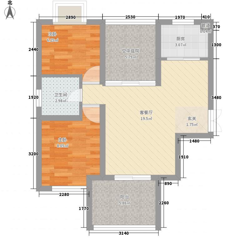 和地蓝湾94.38㎡和地蓝湾户型图20080426-B1偶数6号楼2室2厅1卫1厨户型2室2厅1卫1厨