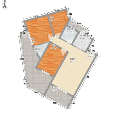 中州国际酒店3室1厅2卫1厨112.24㎡户型图