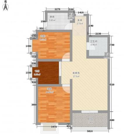 都市怡景三期3室0厅1卫1厨96.00㎡户型图