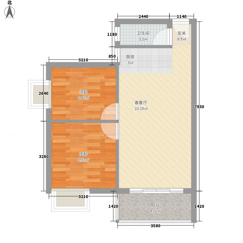 汇星苑68.00㎡汇星苑户型图24#、25#03单位2室2厅户型2室2厅