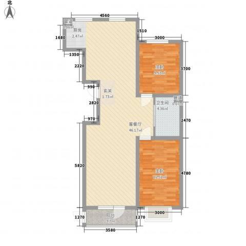 紫光碧海云天2室1厅1卫0厨108.00㎡户型图