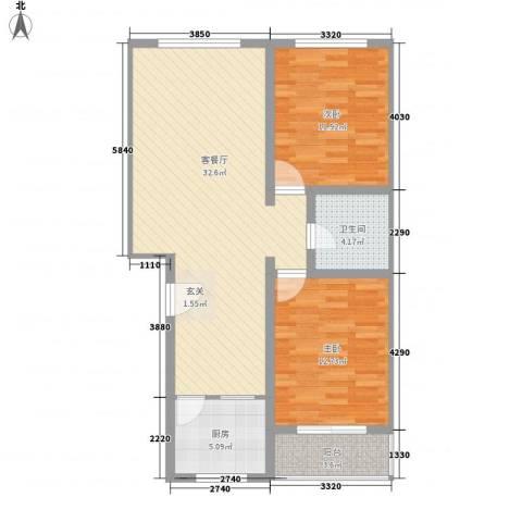 梧桐苑2室1厅1卫1厨99.00㎡户型图