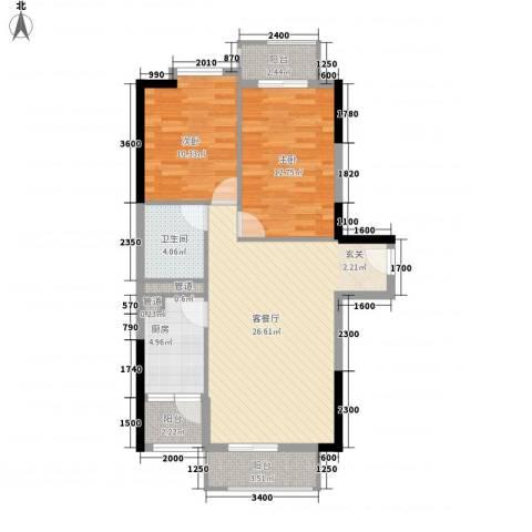 友谊尚居2室1厅1卫1厨83.00㎡户型图