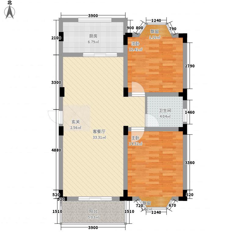 凤凰城家家景园92.00㎡凤凰城家家景园户型图2室2厅1卫1厨户型10室