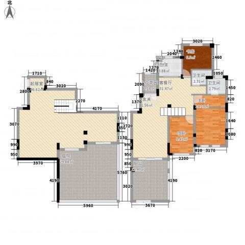 蓉湖山水3室1厅2卫1厨228.00㎡户型图