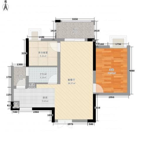 GOGO Park万荟时代1室1厅1卫0厨75.00㎡户型图