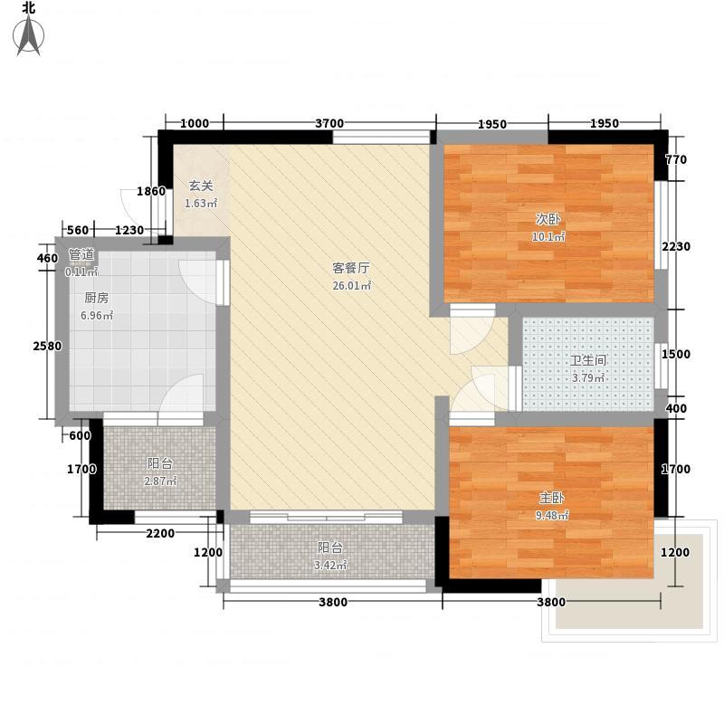 佛奥棕榈园86.00㎡佛奥棕榈园户型图C1D户型首层2室2厅1卫1厨户型2室2厅1卫1厨