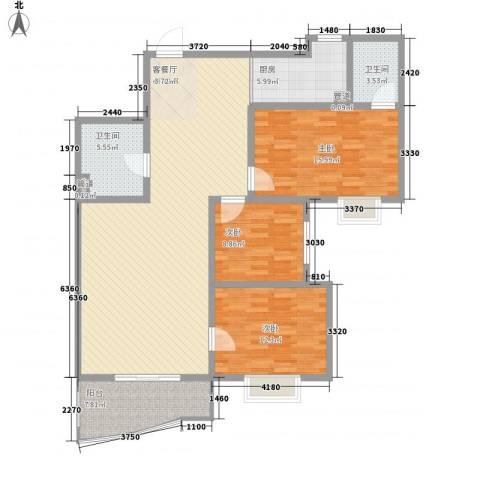 麒麟雅筑3室1厅2卫1厨149.00㎡户型图