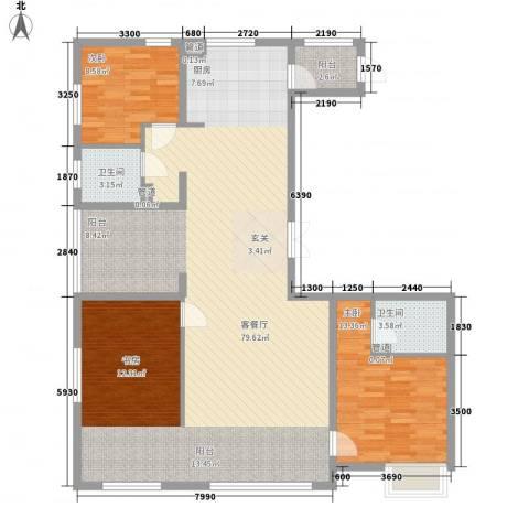 盟科视界2室1厅2卫0厨111.14㎡户型图