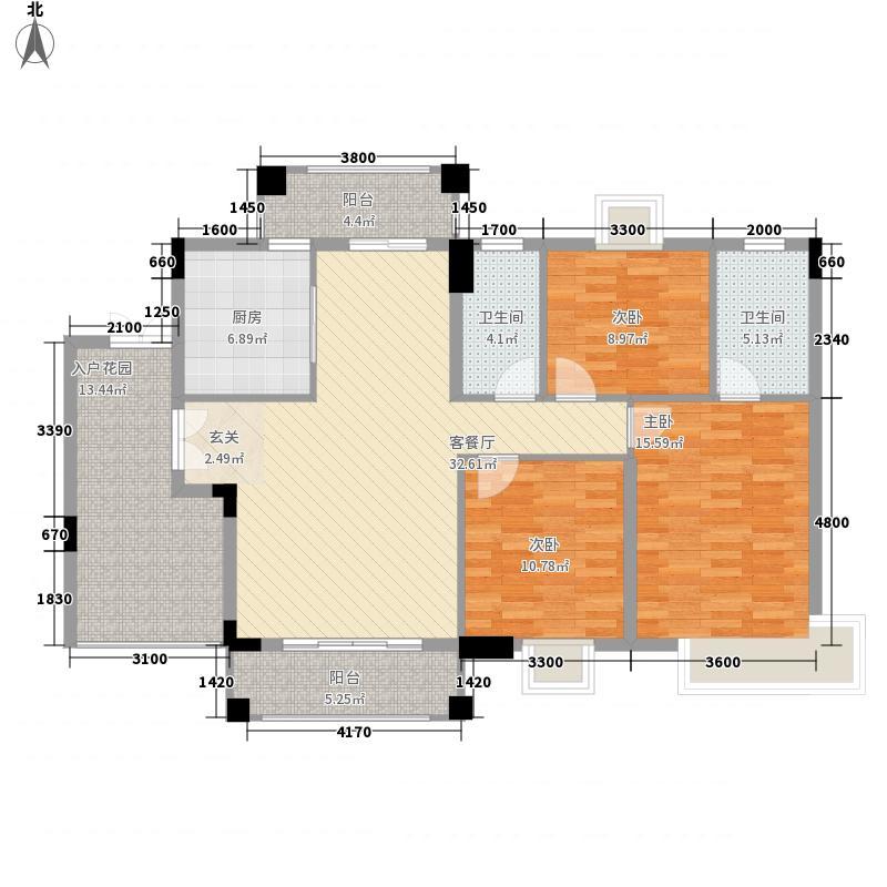 穆天子山庄13.00㎡半山湾畔户型3室2厅2卫