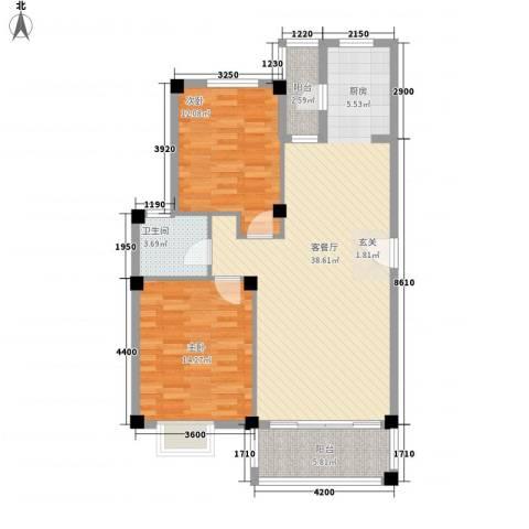 花前树下二期2室1厅1卫0厨92.00㎡户型图