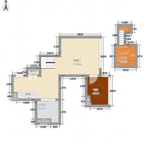 大众河滨2室1厅1卫0厨57.00㎡户型图