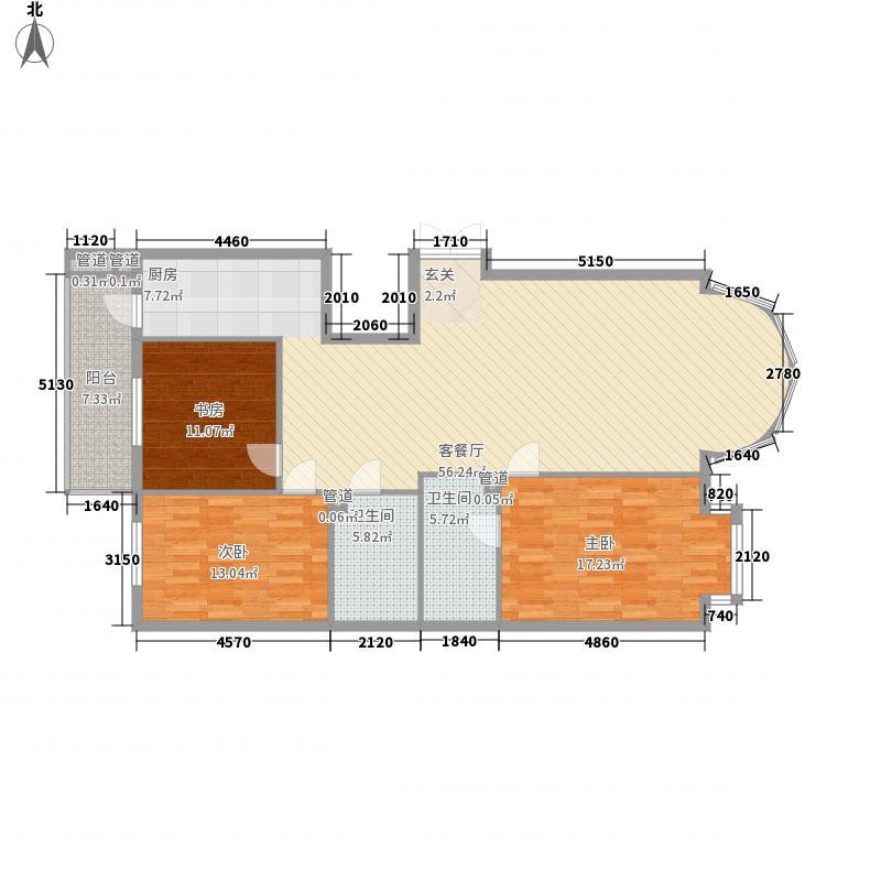 凯旋城163.89㎡户型2室2厅2卫1厨
