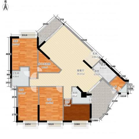 华标涛景湾4室1厅3卫1厨157.00㎡户型图