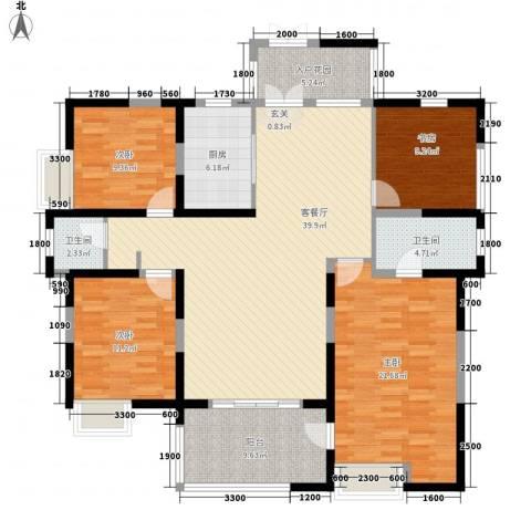 兰亭坊4室1厅2卫1厨162.00㎡户型图
