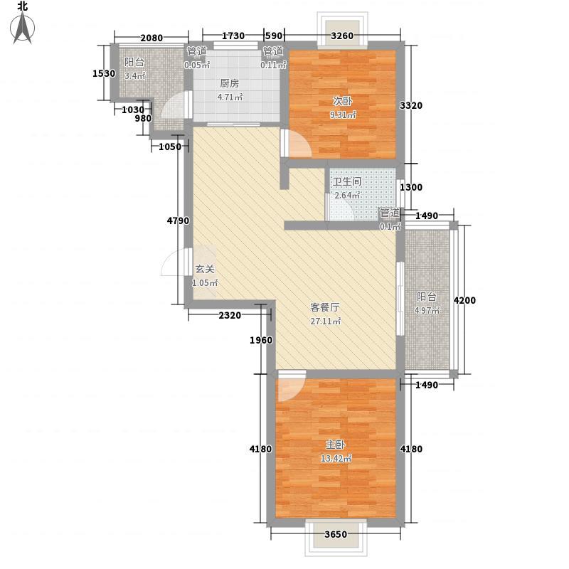 林庄御园三期小高层3户型2室2厅1卫1厨