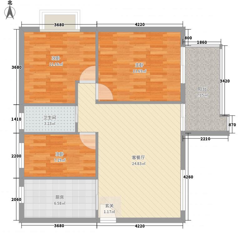 金众经典家园63.00㎡深圳金众经典家园户型图3户型10室
