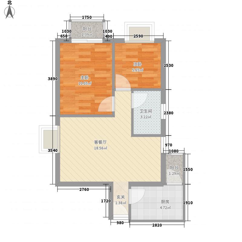 金众经典家园61.31㎡深圳金众经典家园户型图5户型10室