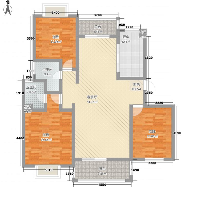 king紫金门136.92㎡king紫金门户型图H23室2厅2卫户型3室2厅2卫