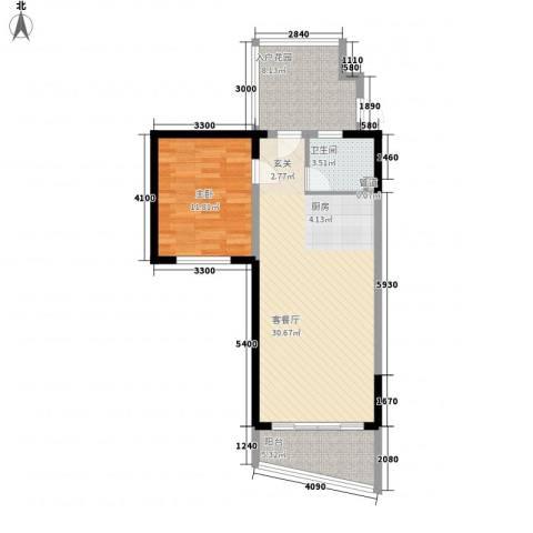 博鳌海御1室1厅1卫0厨78.00㎡户型图