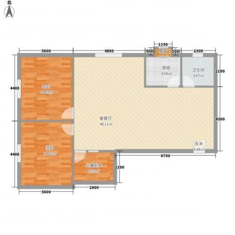 汇丰派出所农牧局宿舍2室1厅1卫1厨124.00㎡户型图