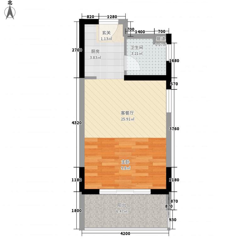 东方豪苑二期星钻42.47㎡东方豪苑二期星钻户型图7#D户型1室1厅1卫1厨户型1室1厅1卫1厨