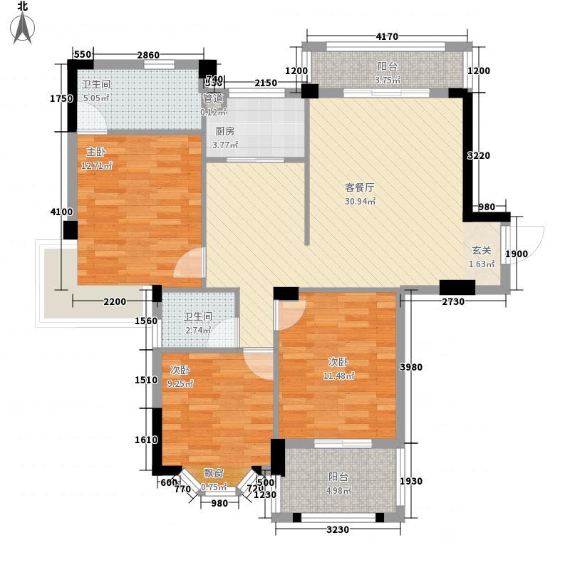 名郡120.34㎡名郡户型图3室2厅2卫1厨户型10室