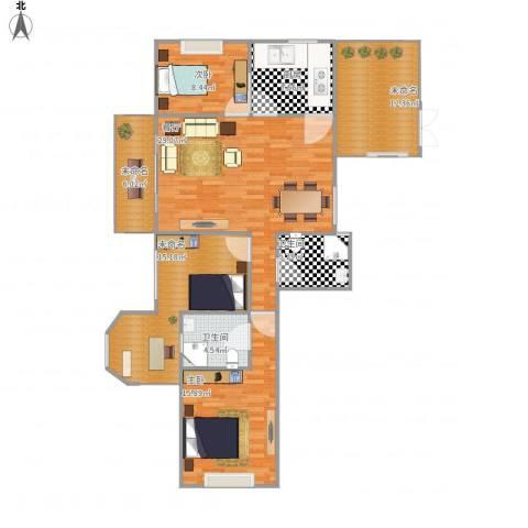 葡华欧洲城2室1厅2卫1厨139.00㎡户型图