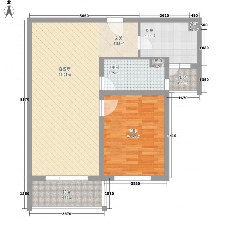 恒通公寓86.90㎡恒通公寓1室2厅1卫1厨户型1室2厅1卫1厨
