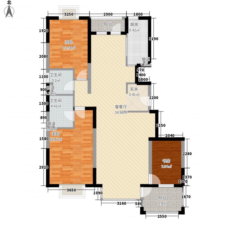 城市亮点C1户型3室2厅2卫1厨
