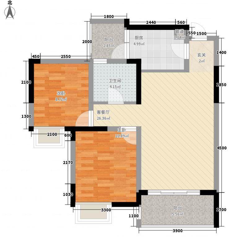 化工南村仙居苑户型2室