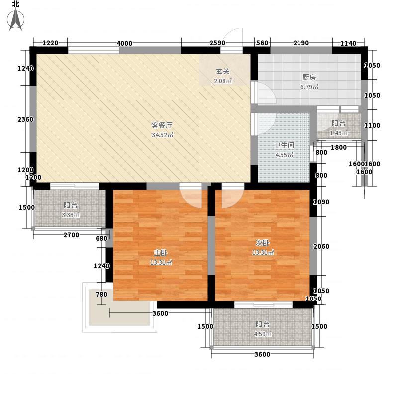 凤凰城家家景园106.17㎡凤凰城家家景园户型图2室2厅1卫1厨户型10室