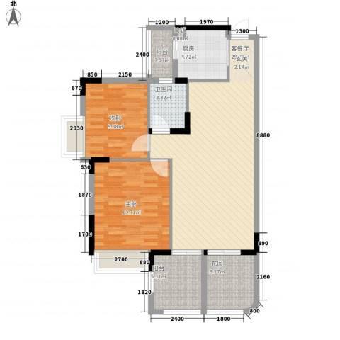 世纪城国际公馆 四期2室1厅1卫1厨105.00㎡户型图