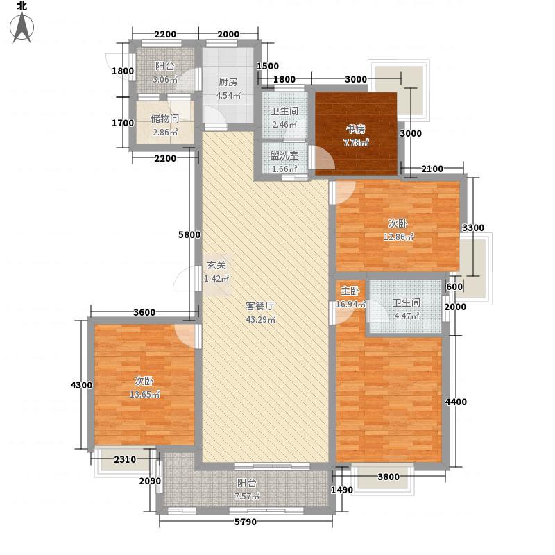 king紫金门163.98㎡king紫金门户型图G3室2厅2卫户型3室2厅2卫