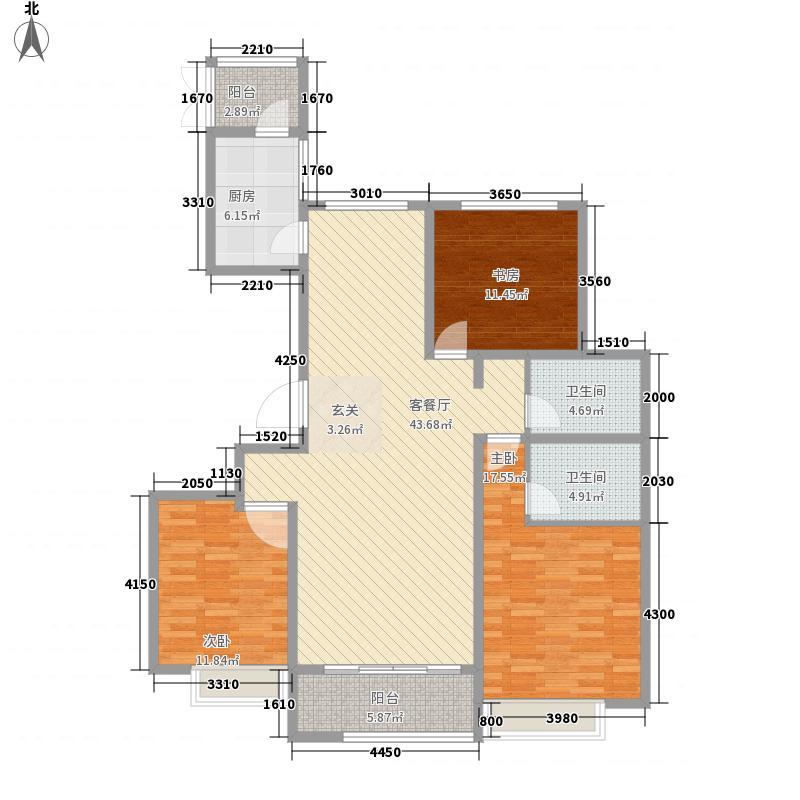 舜和国际花园157.00㎡26楼B1户型3室2厅2卫