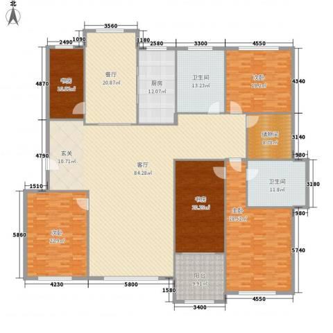 山海一家二期5室2厅2卫1厨350.00㎡户型图