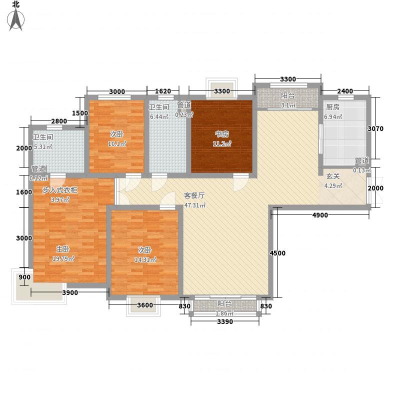 天庆格林小镇180.00㎡二期L2户型4室2厅2卫1厨