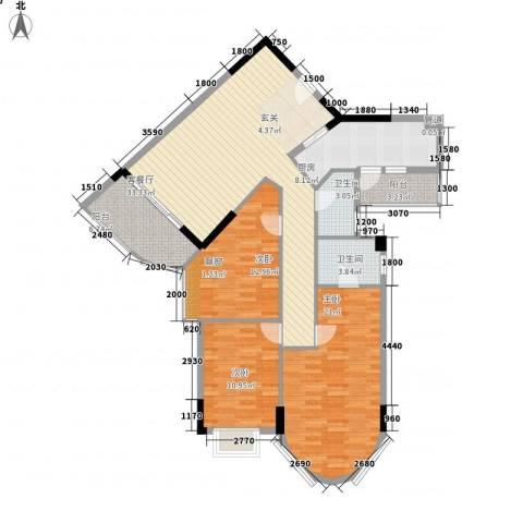 碧水湾3室1厅2卫1厨115.49㎡户型图