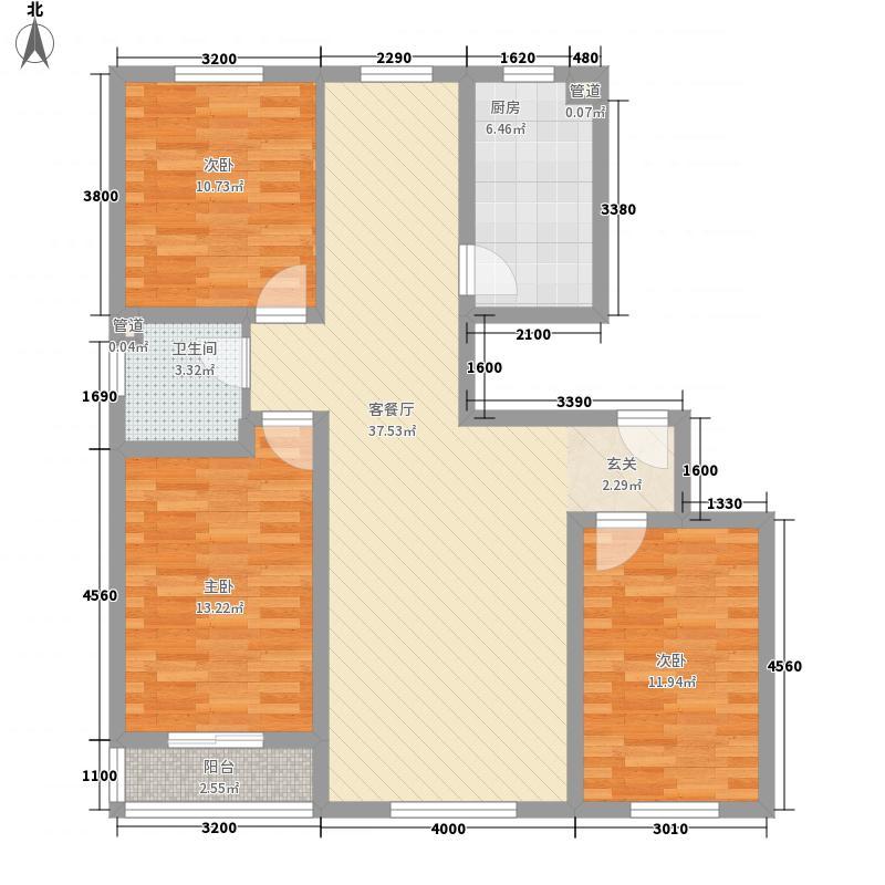金泰馨雅园17.00㎡户型3室