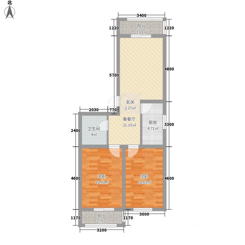 南山秀水87.62㎡南山秀水多层8#二室二厅一卫87.62平户型10室