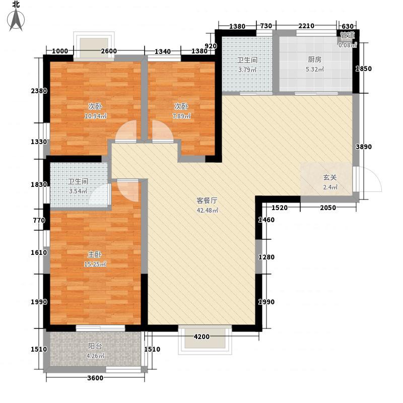 西岸国际花园130.00㎡西岸国际花园户型图E户型3室2厅2卫1厨户型3室2厅2卫1厨