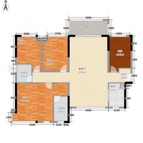 世纪城国际公馆三期4室1厅2卫1厨235.00㎡户型图
