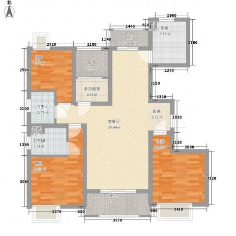鑫苑世家3室1厅2卫1厨120.00㎡户型图
