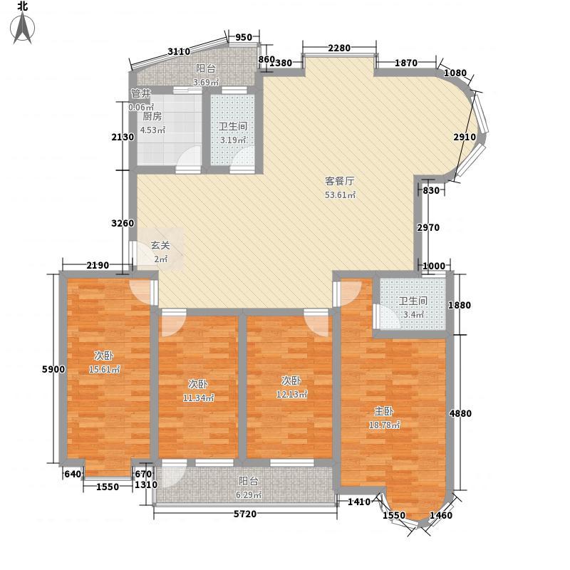 恒宇江上一品187.36㎡梦幻漓江1#楼户型4室2厅2卫1厨